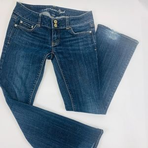 American Eagle Womens Jeans 4 Short Blue Artist